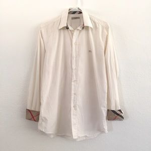 Burberry Men's Long sleeve Button Front Top Size S